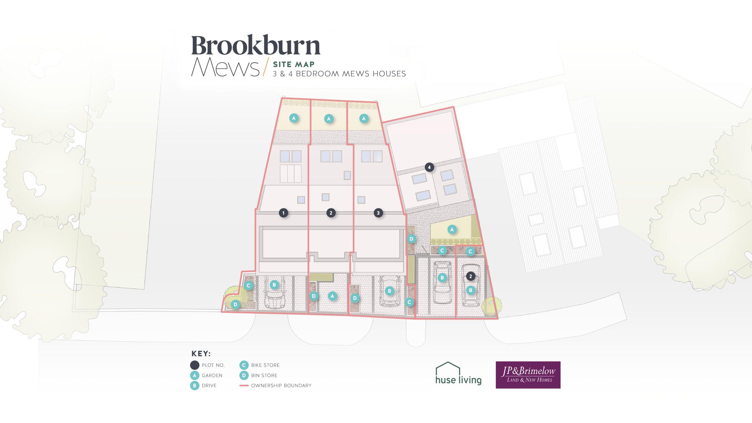 Brookburn Mews Site Map