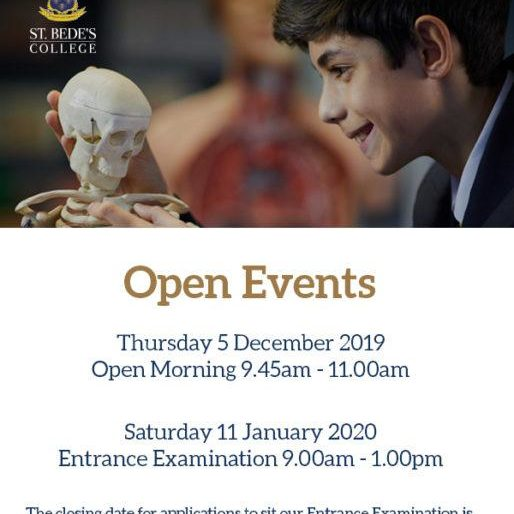 St Bede's OPEN DAY